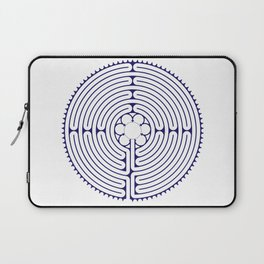 Cathedral of Our Lady of Chartres Labyrinth - Blue Laptop Sleeve