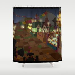 Dia De Los Muertos Night Shower Curtain