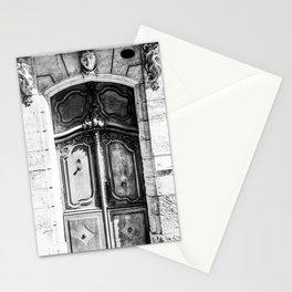 Doorway | Hotel de La Grange Nimes France Vintage Rustic Old World Black and White Architecture Stationery Cards