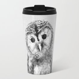 Baby Owl - Black & White Travel Mug