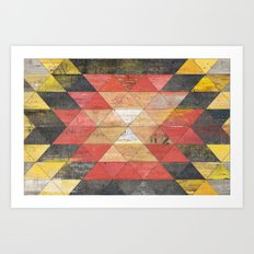 Reclaimed Triangle Pattern Art Print