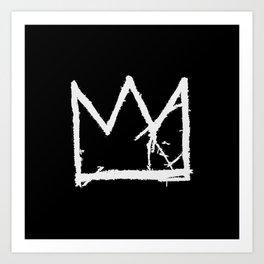 Basquiat King Crown (black) Art Print