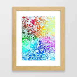 Flying Through Rainbows Framed Art Print