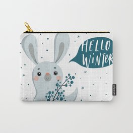 Hello Winter From Rabbit Carry-All Pouch