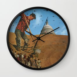 Your Democracy at Work Wall Clock