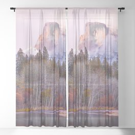 Autumn Bliss, Yosemite Valley Sheer Curtain