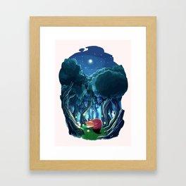 Lonely fox Framed Art Print