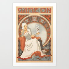 Game Nouveau Art Print