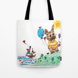 ::  Honey Rabbit on the Knoll :: Tote Bag