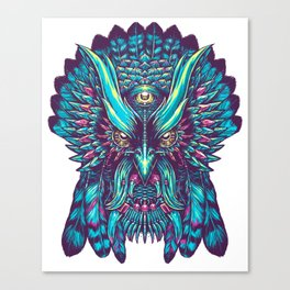 Tribu Owl 1 Canvas Print