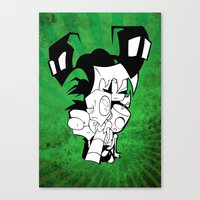 invader zim Canvas Prints featuring Invader Zim by JekyllDraws