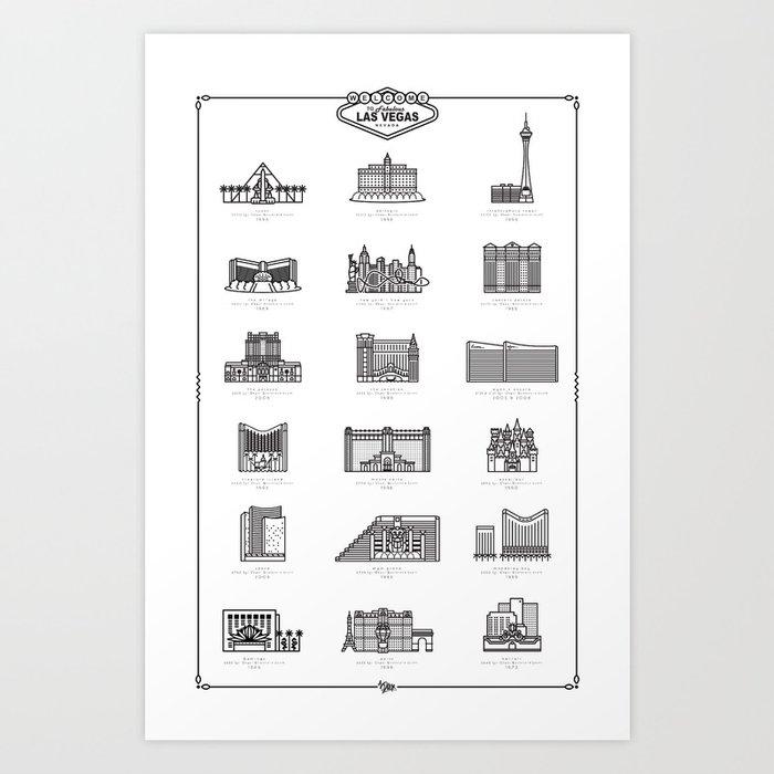 Las Vegas Icons Art Print