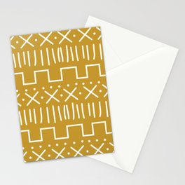 Mustard Mud Cloth Stationery Cards