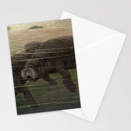Vintage Manatee Painting (1909) Stationery Cards