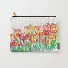 splashed spring flowers Carry-All Pouch
