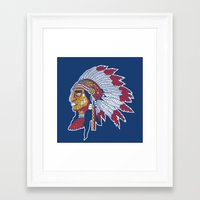 indiana Framed Art Prints featuring indiana by Hugo Tunes