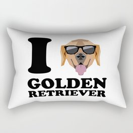 I Love Golden Retriever modern v1 Rectangular Pillow