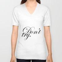 bukowski V-neck T-shirts featuring bukowski. by goldcadillac