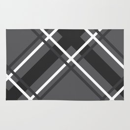 Jumbo Scale Men's Plaid Pattern Rug