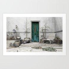 Winter Garden Art Print
