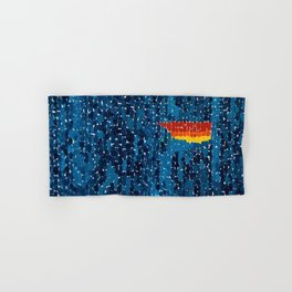 Alma Thomas, African American Portrait, Lucias Unity abstract painting Hand & Bath Towel