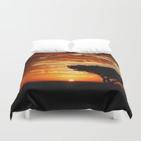 dragon Duvet Covers featuring Firey Dragon  by Chris' Landscape Images & Designs