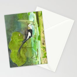 Pheasant-tailed jacana Stationery Cards