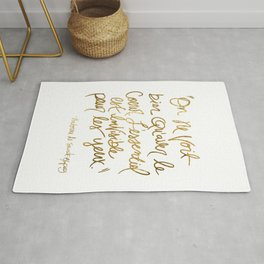 The Little Prince Quote, gold Rug