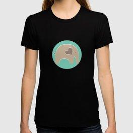 Turquoise Safari Elephant T-shirt