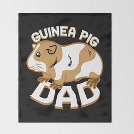 Guinea Pig Dad Throw Blanket