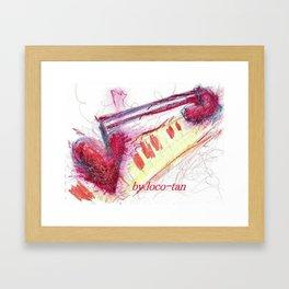 melody heart Framed Art Print