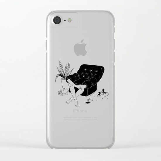 Sunday Mood Clear iPhone Case