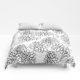 floating dahlias Comforters