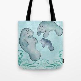 Manatee Family Tote Bag