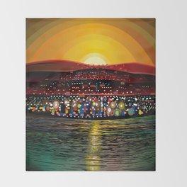 Angel Island Sunset (Square) Throw Blanket