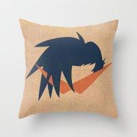 gurren lagann Throw Pillows featuring Minimalist Kamina by 5eth