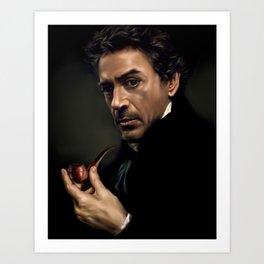Portrait of Sherlock Holmes Art Print