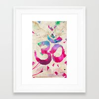 om Framed Art Prints featuring OM by Pranatheory