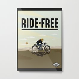 Ride Free Illustration Metal Print