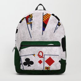 Poker Hand Straight Ace King Queen Jack Ten Backpack