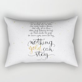 Nothing gold can stay Rectangular Pillow