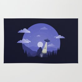 UFO Cow Abduction Rug