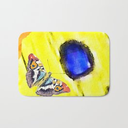 The butterfly scales Bath Mat