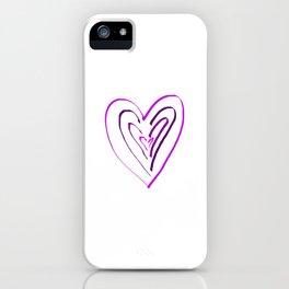 Purple Heartbeats iPhone Case
