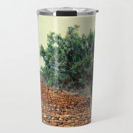 Tree in ruins Travel Mug