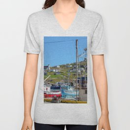 top of the hill Unisex V-Neck