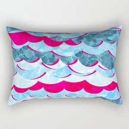 Abstract Sea Waves Design Rectangular Pillow