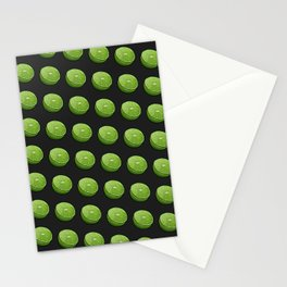 Green Limey Limes on Black Stationery Cards