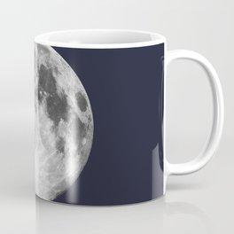 Full Moon on Navy Minimal Design Coffee Mug