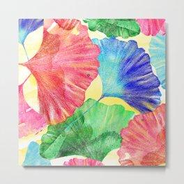 Colorful Ginkgo Leaves  Metal Print